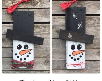 Custom order - do not buy - Christmas Art - Snowman - Snowmen- Christmas Decor -Rustic Decor - Reclaimed Wood Art - Farmhouse