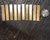 Brass Rectangle Blanks (10)