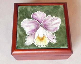 Orchid Lovers Jewelry Box