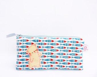 Pencil case, Pencil pouch, Zipper Pouch, College, Kids, School Supplies, Teens, Women, Organize, Cute, Back to school, Fabric - Cat