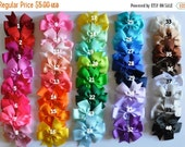 SALE Hair Bows for Girls Babies Infants Toddlers Boutique Hair Bows 40 Colors to Choose From You Choose 5