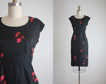 1960s silk briar rose dress