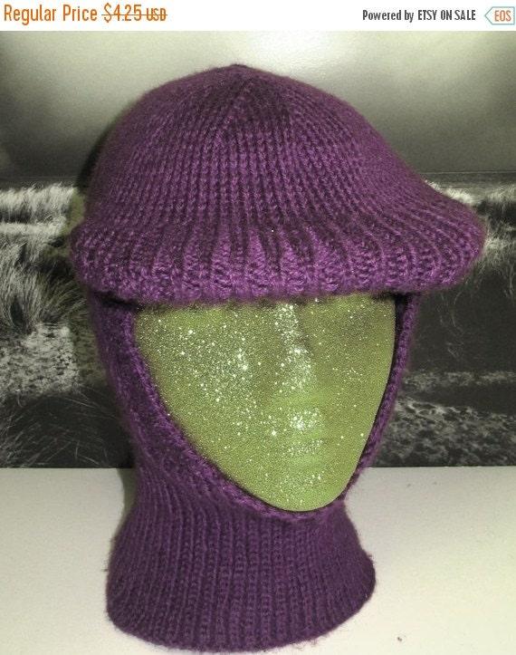 SALE 30% OFF Instant Digital File PDF Download knitting pattern-madmonkeyknits Stiff Peak Balaclava Hat pdf knitting pattern