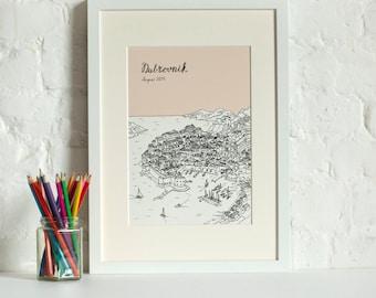 Personalised Dubrovnik Print