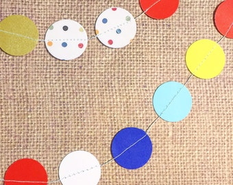 Confetti Dots - mini garland (50 dots)