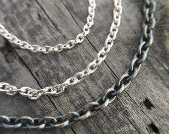 Sterling Silver Chain Handmade Wild Prairie Silver Jewelry
