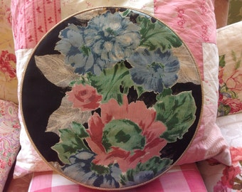 Vintage French Floral Fabric Chocolate Box