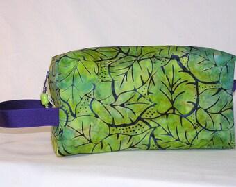 Grape Leaves Batik Project Bag