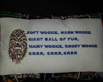 Soft Wookie Poem Pillow