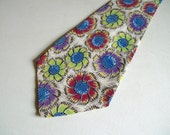 RESERVE No One Purchase - Vintage 40's Floral Swing Necktie handmade in Hollywood TY-Craft