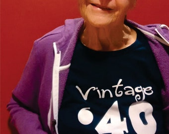 76th birthday gift ideas, Vintage '40 birthday shirt, great gift, avaiable with ANY year for any age, birthday party, gifts for her