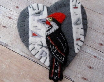 Made to Order Brooch - Pileated Woodpecker