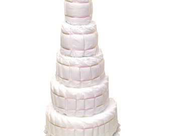 How to make a 4 layer diaper cake