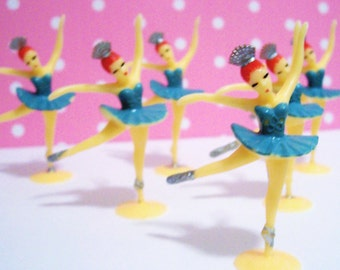 12 Mini Ballerina Cupcake Topper