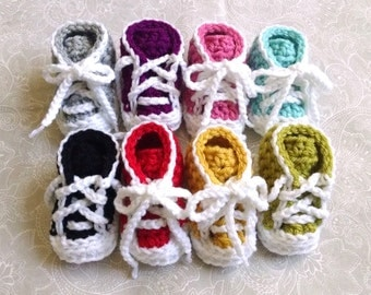 Baby Booties, Baby Sneakers, Baby Shoes, Crochet Baby Booties