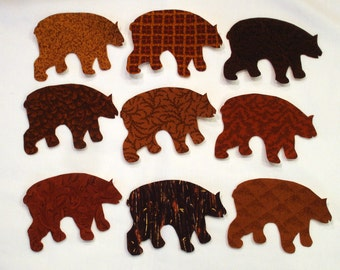 Brown Bear Iron On Appliques