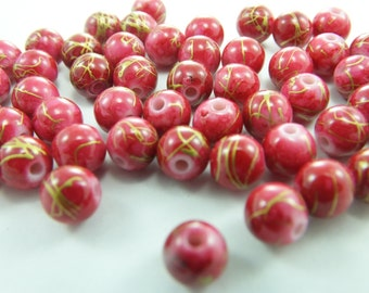 25 Pcs 4 mm Round Plastic beads...Jewelry Making Beads,Lucite Beads