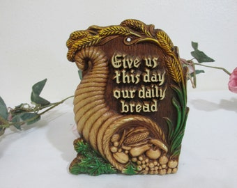 Napkin Holder Give Us This Day our Daily Bread Inspirational Lord's Prayer