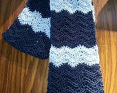 Winter Blue and blue Crocheted Neck Scarf