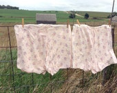 Antique 1920's Bloomer Shorts Knickers Pair two Pink Floral Flannel