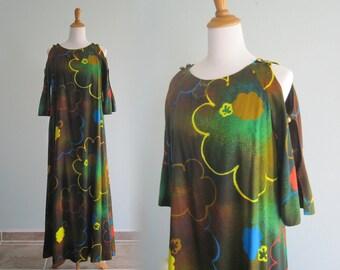 Vintage Liberty House Dress - Amazing 60s Mod Flower Hawaiian Dress - Vintage 1960s Dress S M