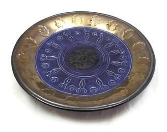 Goddess  Ritual Bowl Handmade Raku Pottery