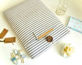 """11"""" 13"""" 15.6"""" Laptop Case MacBook Sleeve, Pro, Air, 12"""" New MacBook Case Cover Custom Fit Padded with Pocket - Stripes"""