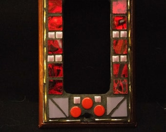 Red/Purple/ Gold Switchplate Cover