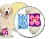 BOO BOO BUTTER™ All Natural Handcrafted Herbal Balm for Your Dog's Itchy Rashes, Scrapes & Discomforts 1 oz tin With Bandaged Paw Label