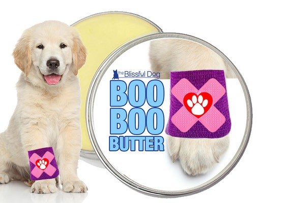 BOO BOO BUTTER™ All Natural Handcrafted Herbal Balm for Your Dog's Skin Irritations, Itchy Rashes, Scrapes & Discomforts 1, 2 or 4 oz Tin