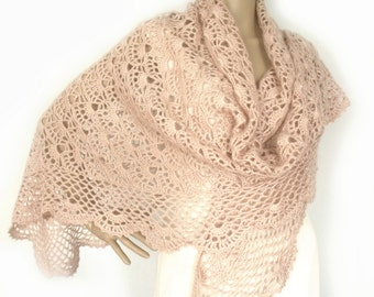 Crochet shawl, Lace crochet shawl, Triangle shawl, Bridal shawl, Prayer shawl, Wedding shawl, Summer shawl, Boho shawl, Pastel shawl