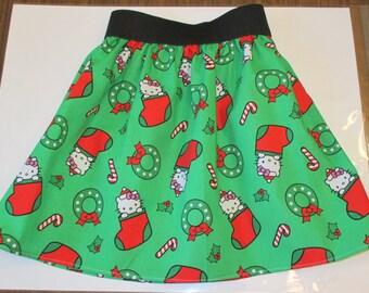 Girls' Christmas Kitty Skirt