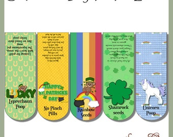 St Patrick's Day Tic Tac Labels, set of 5 - Digital Printable - Immediate Download