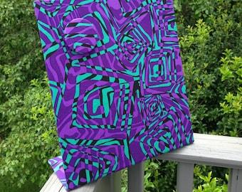 "Magnetic Board, Purple Rain, Desktop Organizer, Bulletin Board, Decorative Magnetic Board, Magnetic Board, 11"" x 12"""