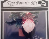 Paint by Number Santa Wooden Egg Kit,  Santa Head, 2 Wooden Goose Eggs