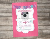 Instagram Inspired Birthday Invitation, Insta-Party - Print Your Own