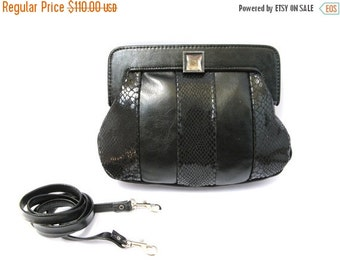 FLASH SALE 25% OFF Women's Leather Purse, Evening Leather Purse, Small Leather Purse, Leather Clutch - in Classic Black (No.1070)