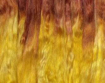 Combed Suri Alpaca Doll Hair 1.7 ounces 10-11 inches Marigold Ombre