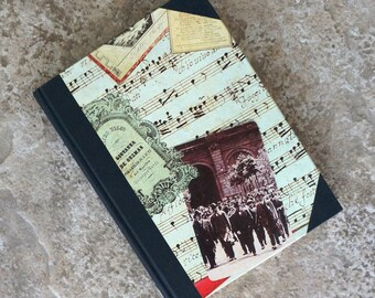 Vintage Journal Opera Music Covers Blank Lined Pages