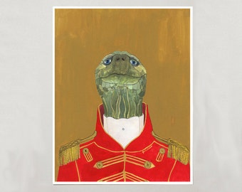 Art Print - Turtle - Signed by Artist - 8x10 // 16x20 // 22x28