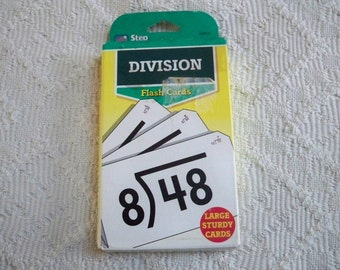 Vintage Toys and Games Learning & School Division Flash Cards Step Ahead Learn Division Facts
