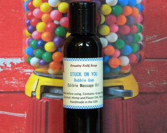 STUCK ON YOU Bubble Gum Massage Oil - Bubble Gum Body Oil