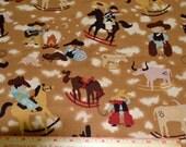 """Western Cowboy Cotton Fabric 41-1/2"""" Wide 1 Yard listing"""