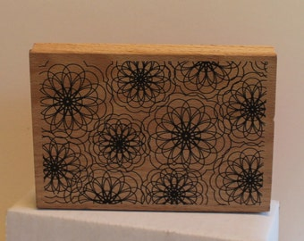 Spiral Pattern Flowers BACKGROUND Rubber Stamp