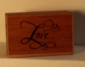 Elegant LOVE Rubber Stamp