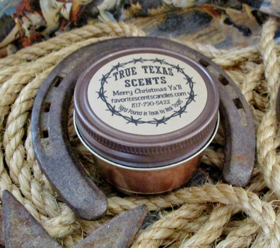 Merry Christmas Y'all - (Sweet Holiday Blend) 4 oz Texas Western Cowboy Candle