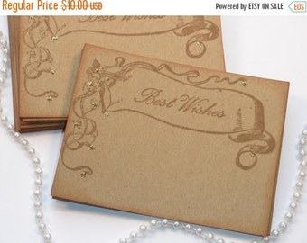 SALE Wedding Wish Cards Vintage Banner Set of 25 SALE