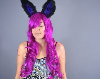 Black Bunny - Luxury bendeable bunny ears - Purple