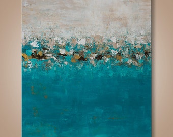 Abstract Painting, Large Painting, Abstract Wall Art, Home decor, Seascape Painting, Landscape Painting, Catalin, Abstract landscape, Art