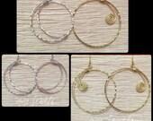CUSTOM: Cresent Moon or Rising Sun HOOPLAH Earrings